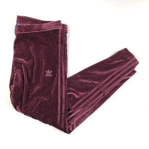 316add2a86a8e adidas Pants | Velvet Vibes Maroon Leggings Nwt Xl Trefoil | Poshmark